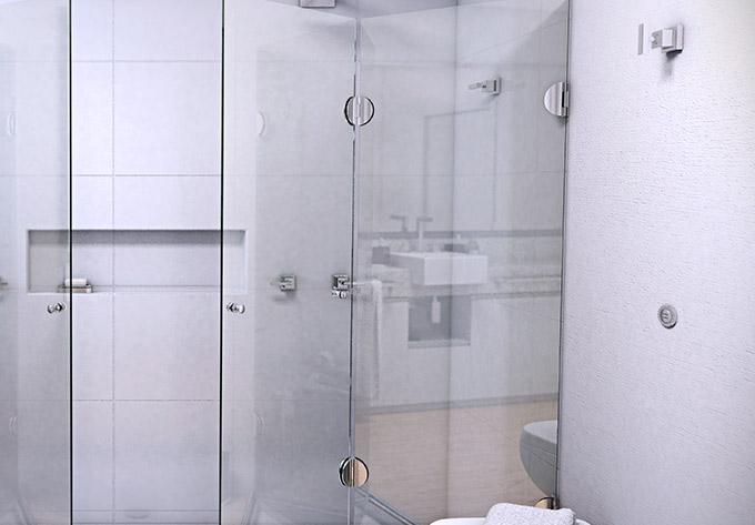 Dodô Vidros -> Banheiro Decorado Com Pvc